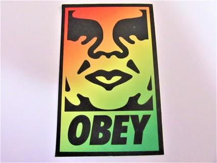 OBEY Vinyl Sticker- Helmet/Car/Skateboard/Business/Crafts
