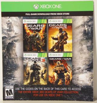 Free: GEARS OF WAR SERIES XBOX 360/ XBOX ONE GAMES ( DIGITAL