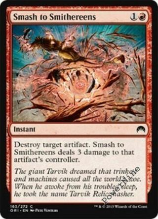 Smash to Smithereens ~ Red Origins Mtg Magic Common