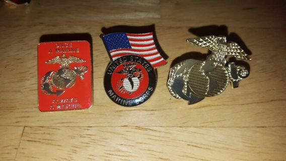 (3) Marine Hat Pins