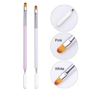 Poly UV Gel Nail Art Pen Slice Brush Dual-Ended Slice Shape Nail Extension Tool