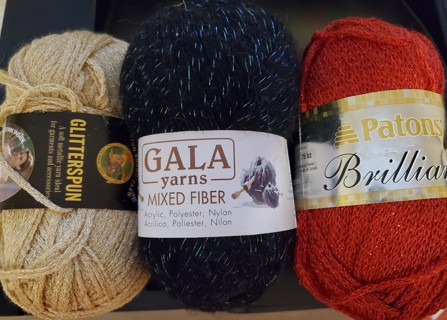 NEW - 3 Sparkle Yarns - Various Makers