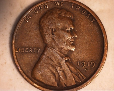 1919 s wheat penny