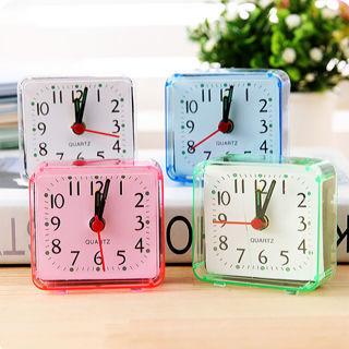 Square Small Cute Bed Compact Travel Quartz Beep Alarm Clock Cute Portable