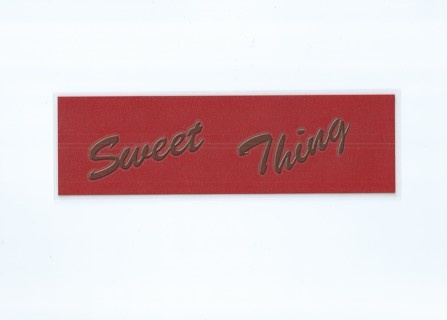 Sweet Thing XL Laminated Bookmark