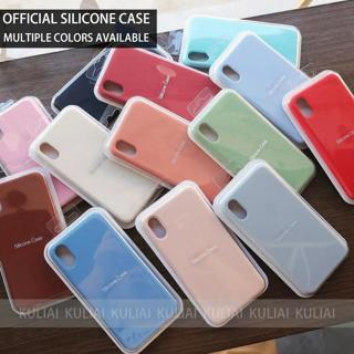 Have LOGO Original Offical Silicone Phone Case For iPhone 7 8 Case For iPhone X XS Max XR Cover Fo