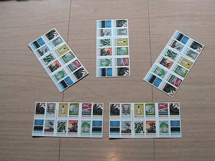 "100 Forever stamps -- up for ""gin"" auction is a hundred WPA Poster stamps !!!!"