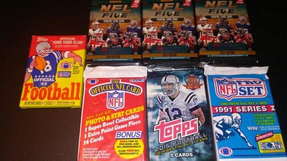 7 NFL FOOTBALL CARD SEALED PACKS