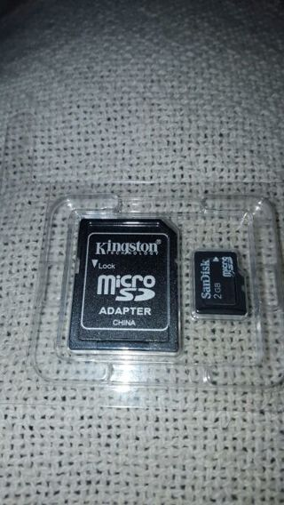 2 GB MICRO SD CARD WITH KINGSTON MICRO SD CARD ADAPTER