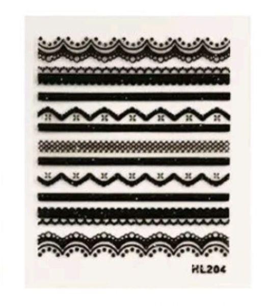 Free: 1 Sheet Black Lace Sticker Nail Decal - Nails - Listia.com ...