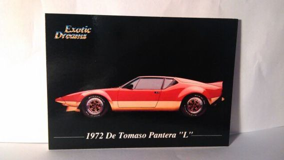 Free: Exotic Dreams Car Trading Card - Other Trading Cards