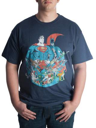 New In Package~DC Comics Big Mens Justice League Tee Shirt Size 2X