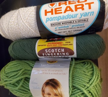 3 - Various Yarns - total weight 4.5 ozs