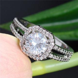 Fashion Women Wedding Ring Engagement Rings Crystal Rhinestone Jewelry Size 5-10
