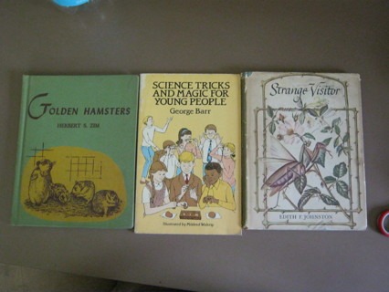 Lot 3 Childrens Vintage Books RARE