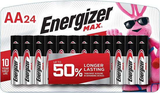 Brand New Energizer Batteries AA 24 Pack