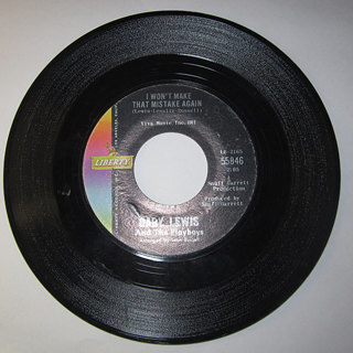 GARY LEWIS I WON'T MAKE THAT MISTAKE AGAIN & SHE'S JUST MY STYLE 45 RECORD!!