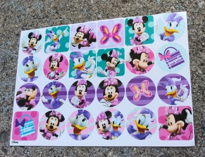 MINNIE MOUSE AND DAISY DUCK STICKERS 4 SHEETS