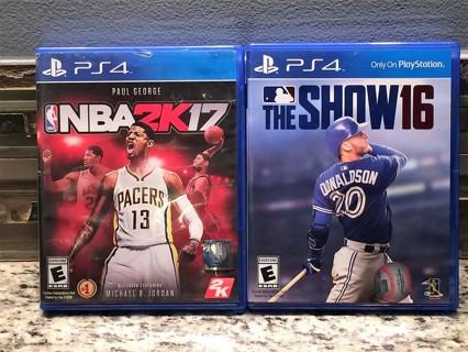 MLB The Show '16 & NBA 2K17  (PS4)