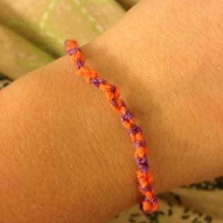 Purple And Orange Bracelet