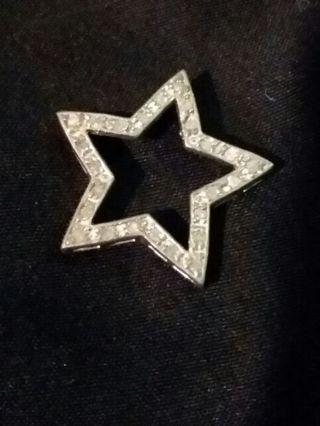 925 stamped cz Star Charm