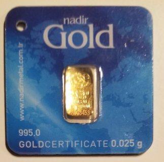 Nadir Mini Gold Bar