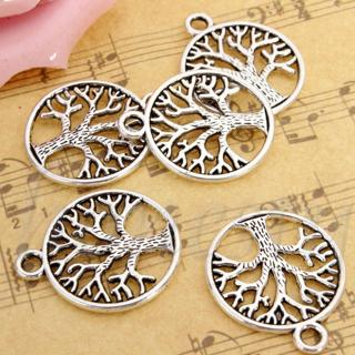 10pcs 20mm Tibetan 'Tree of Life Circle' Charms Pendants For Jewelry Finding