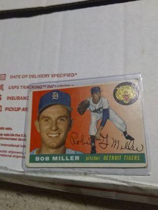 1955 Topps Detroit Tigers Bob Miller
