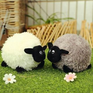Lamb Stuffed Plush Toy Soft Cotton Sheep Character Kid Baby Toy Gift Doll Pillow