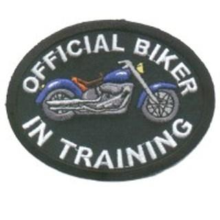 BIKER IN TRAINING PATCH BLUE