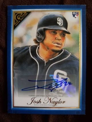 2019 Topps Gallery Rookie Autograph Blue Josh Naylor