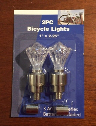 NEW PAIR OF CRYSTAL KNOB STYLE WHEEL LIGHTS ~ FREE SHIPPING ~