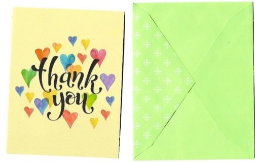 Thank You Card With Envelope Blank Inside