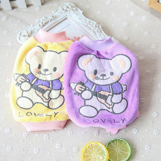 Spring Puppy Pet Clothes Vest Small Dog Cat T-shirt Cute bear Apparel Costume