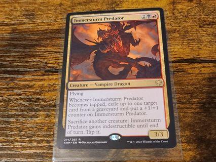 Magic the gathering mtg Immerstrum predator rare kaldheim