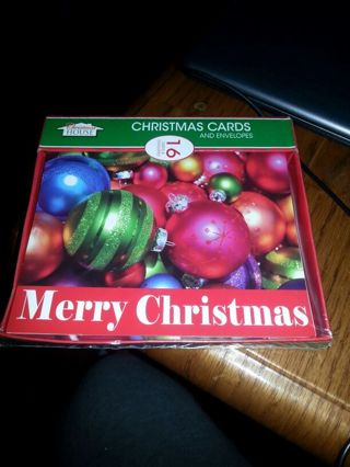 New sealed 16 pack xmas cards with envelopes