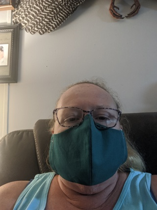 Reversible Face Mask .. Dark Green both sides ... FM0025