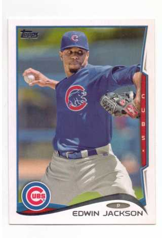 2014 TOPPS EDWIN JACKSON ~ CHICAGO CUBS