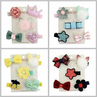 ideacherry Brand New Children Jewelry Baby Hair Accessories Set Rabbit Ears Mink Hair Ball Hairpin