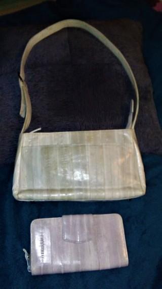 Free Lee Sands Eel Skin Handbag And Wallet