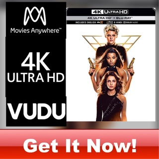 CHARLIE'S ANGELS 4K MOVIES ANYWHERE OR VUDU CODE ONLY