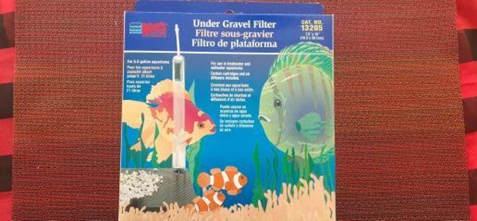 NIB Under Gravel Aquarium Filter 5.5 Gallon