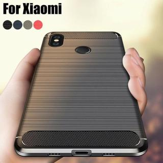 For Xiaomi Redmi Note 5/6 Pro/4X S2 6A Mi 8 Lite Brushed Soft Rubber Case Cover