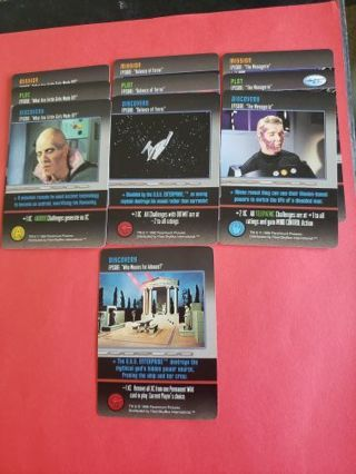 10 Star Trek The Card Game Original Series Lot #5