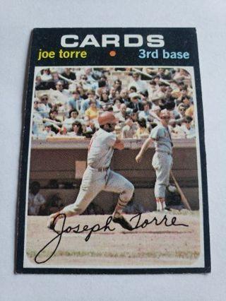 1971 topps Joe Torre St. Louis cardinals vintage baseball card