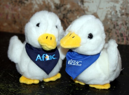 free aflac ducks plush talking quackers dolls stuffed animals