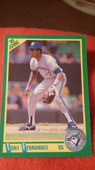 1990 - Score - TONY FERNANDEZ #89 (Toronto Blue Jays) Baseball Card