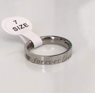 "Forever Love ""Promise"" Ring Size 7 (Read Description)"
