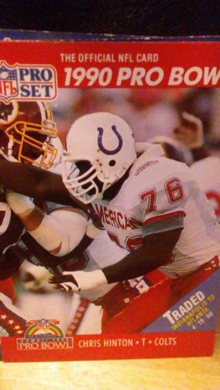 1990 PRO SET COLTS CHRIS HINTON CARD
