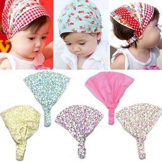 Baby Girl Bandana Hats Kid Newborn Flower Headband Hair Wear Headscarf Headwear
